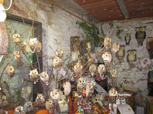 Сувенирные совы Ярмарка ремесел в Тоскане